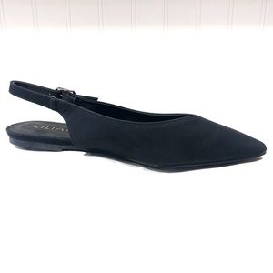 Liliana Black Slingback Flats Pointed Toe